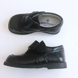 Boys Designer Black Leather Shoe Spain 25 / 8 8.5